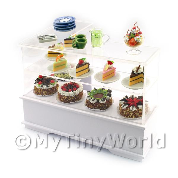 Dolls House Miniature  | Dolls House Miniature Filled Left Hand Cake Counter
