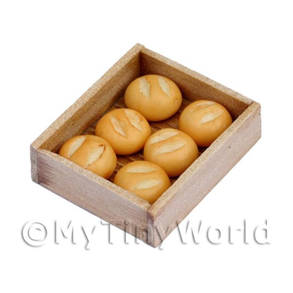 Miniature Small Round Loaves In A Bakers Box