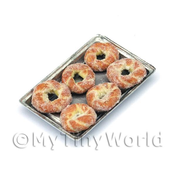 Dolls House Miniature  | Dolls House Miniature Sugared Pastry Twists On ATray