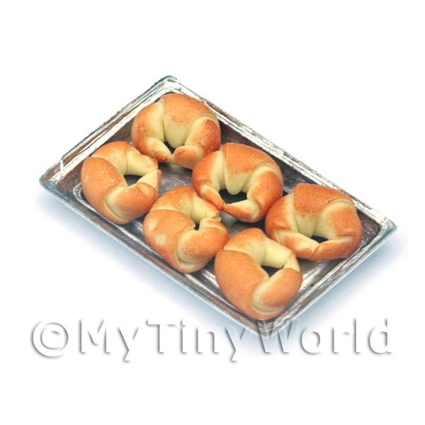 Dolls House Miniature  | Dolls House Miniature Croissants On A Tray