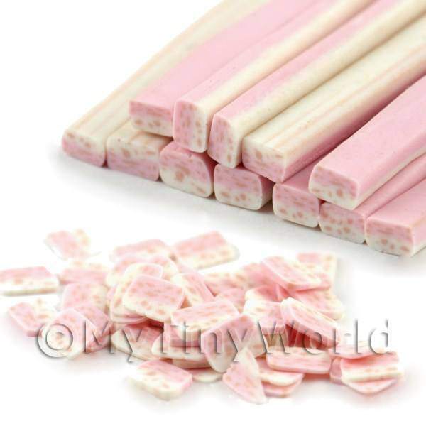Pink and White Nougat Nail Art Cane (09NC12)