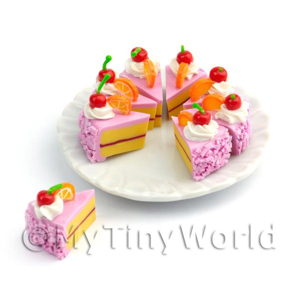 Miniature Whole Sliced Cherry And Orange Cake