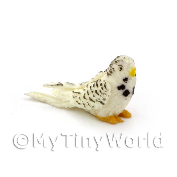 Dolls House Miniature  | Dolls House Miniature Grey And White Budgie
