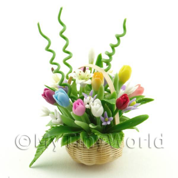 Dolls House Miniature Mixed Flower Bouquet