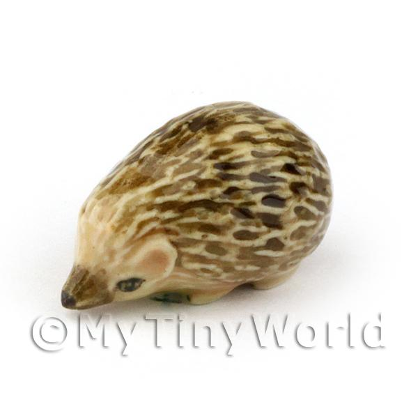 Dolls House Miniature Handmade Ceramic Hedgehog