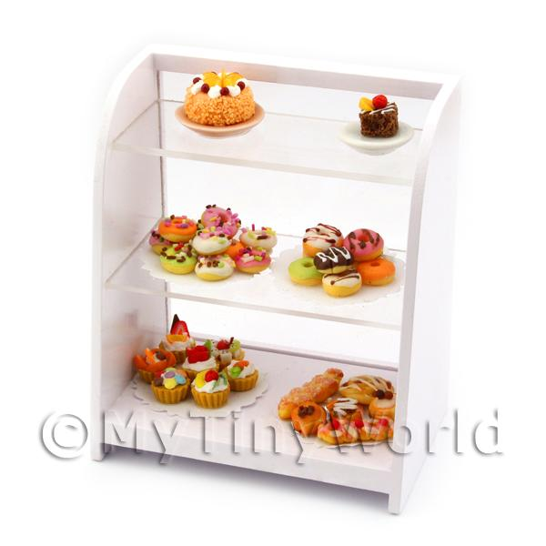 Dolls House Miniature White Cafe Display