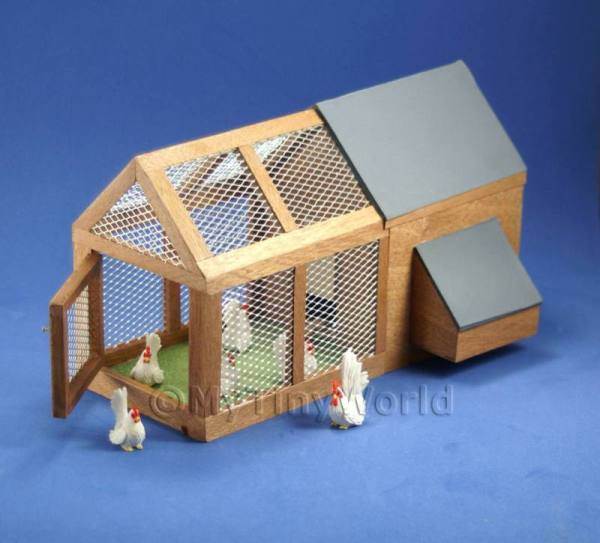 Dolls House Miniature  | [EOL]Dolls House Miniature Large Chicken Coop and Run
