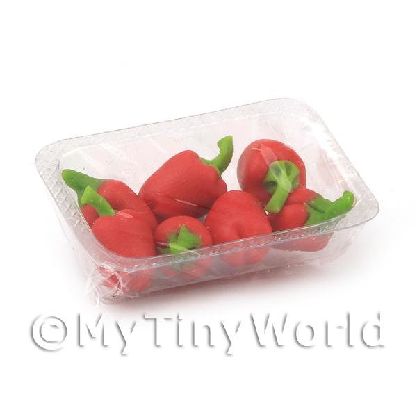 Dolls House Miniature  | Dolls House Miniature Punnet of Red Bell Peppers