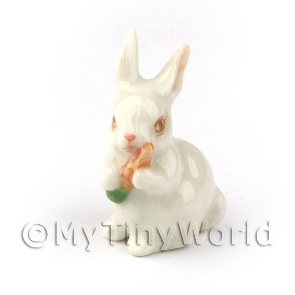 Dolls House Miniature Ceramic Sitting Rabbit