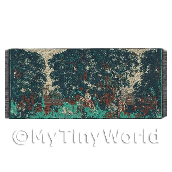 Dolls House Miniature  | Dolls House Miniature Large Woven Hunting Tapestry (TAPMR04)
