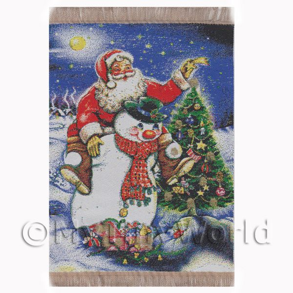 Dolls House Miniature  | Dolls House Miniature Large Christmas Tapestry (TAPSR08)