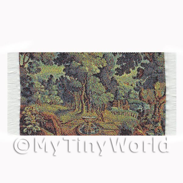 Dolls House Miniature  | Dolls House Miniature Small Tapestry Country Garden (TAPXSR01)