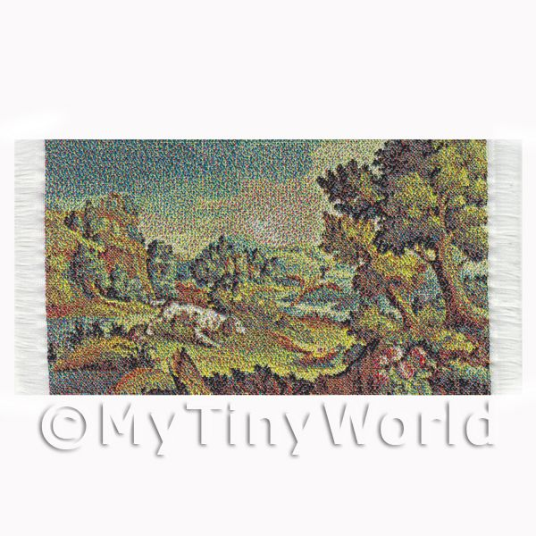 Dolls House Miniature  | Dolls House Miniature Small Tapestry - Countryside (TAPXSR02)