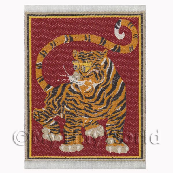 Dolls House Miniature  | Dolls House Miniature Small Woven Tiger Tapestry (TAPXSR05)