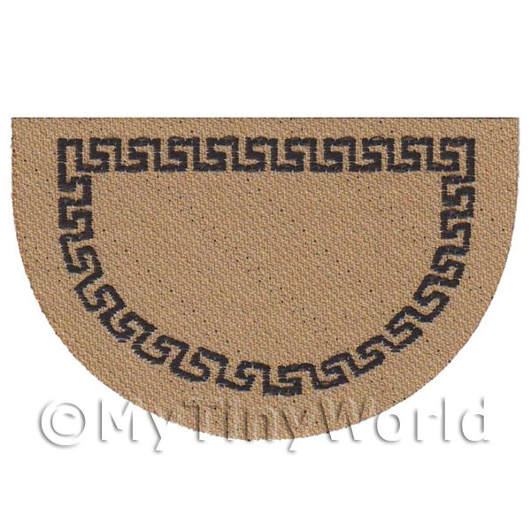 Dolls House 62mm Bordered Half Moon Welcome Mat (WM13)