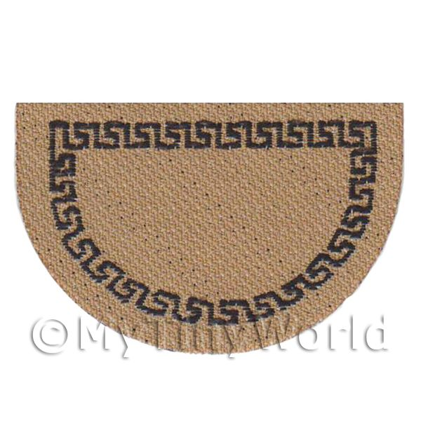 Dolls House Modern 43mm Bordered Half Moon Welcome Mat (WM18)