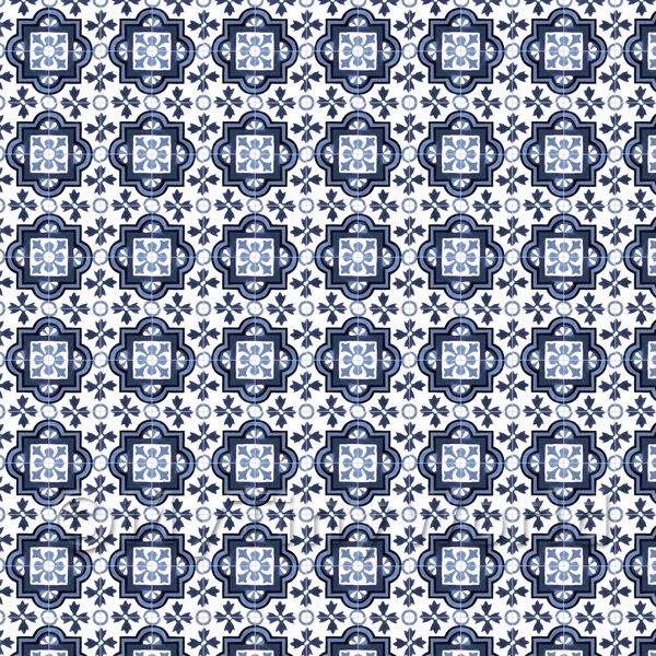 Dolls House Miniature Floor Tile Sheets 40402th Mixed Blue Ornate Enchanting Pattern Sheets