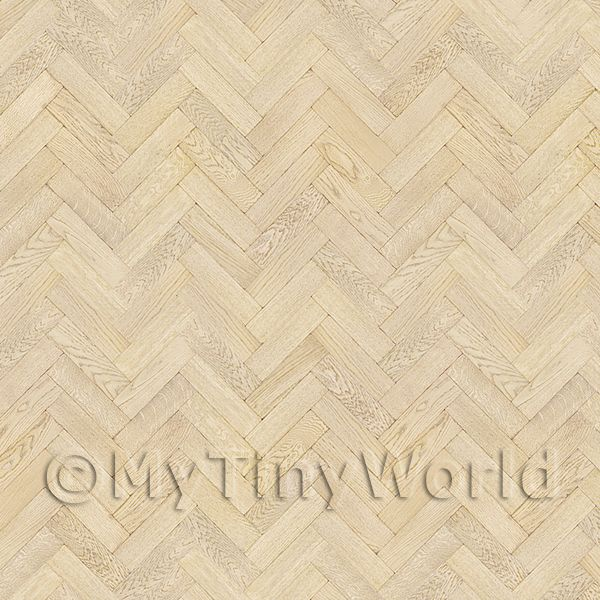 Dolls House Miniature  | Pack of 5 Dolls House Parquet Flooring 9 Inch Natural Oak Strip Effect Sheets