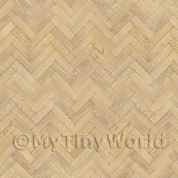 Dolls House Miniature  | Pack of 5 Dolls House Parquet Flooring 9 Inch Light Honey Oak Strip Effect Sheets