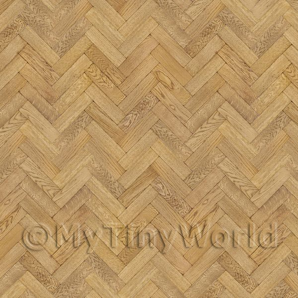 Dolls House Miniature  | Pack of 5 Dolls House Parquet Flooring 9 Inch Honey Color Oak Strip Effect Sheets