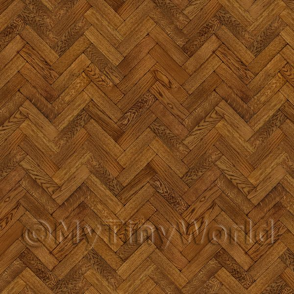 Dolls House Miniature  | Pack of 5 Dolls House Parquet Flooring 9 Inch Pale Cocoa Oak Strip Effect Sheets