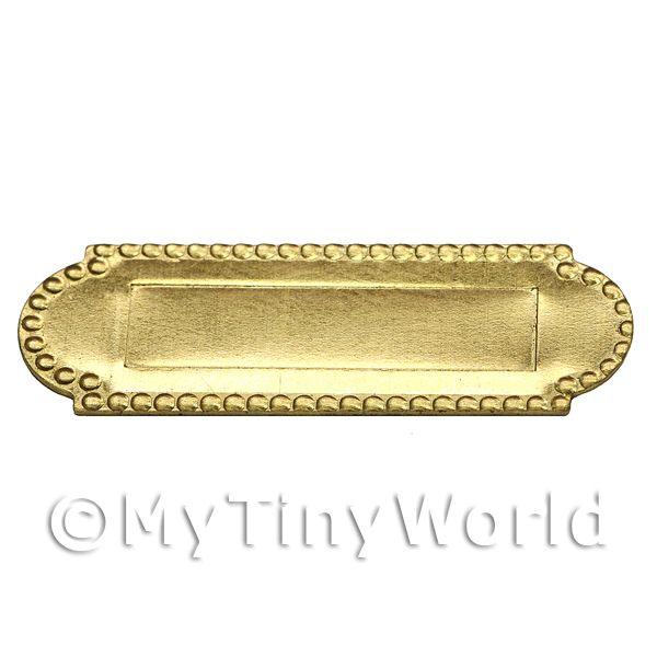 Dolls House Miniature  | Dolls House Miniature 1:12th Scale Brass Letterbox With Beaded Trim.