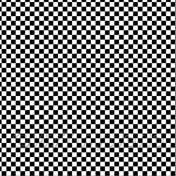 Dolls House Miniature Floor Tile Sheets - 1:48th Classic