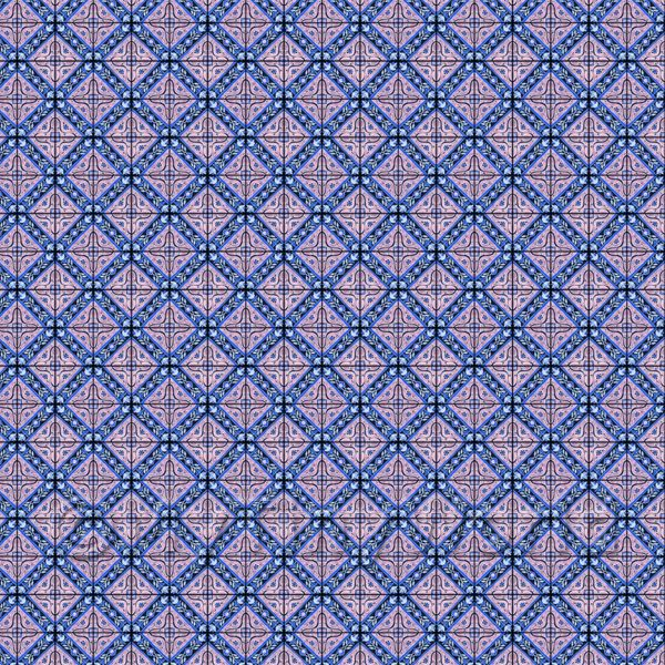 1:24th Mauve Star With Flower Border Tile Sheet With Black Grout