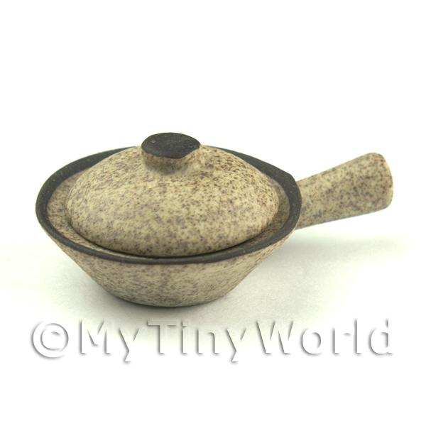 Dolls House Miniature  | Handmade Ceramic Stoneware Wok With Lid