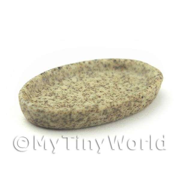 Dolls House Miniature  | 23mm Dolls House Miniature Stoneware Oval Plate