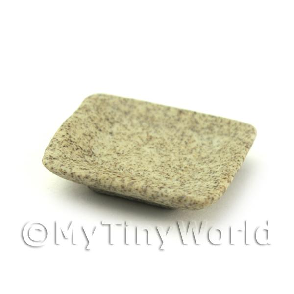 Dolls House Miniature  | 21mm Dolls House Miniature Stoneware Square Plate