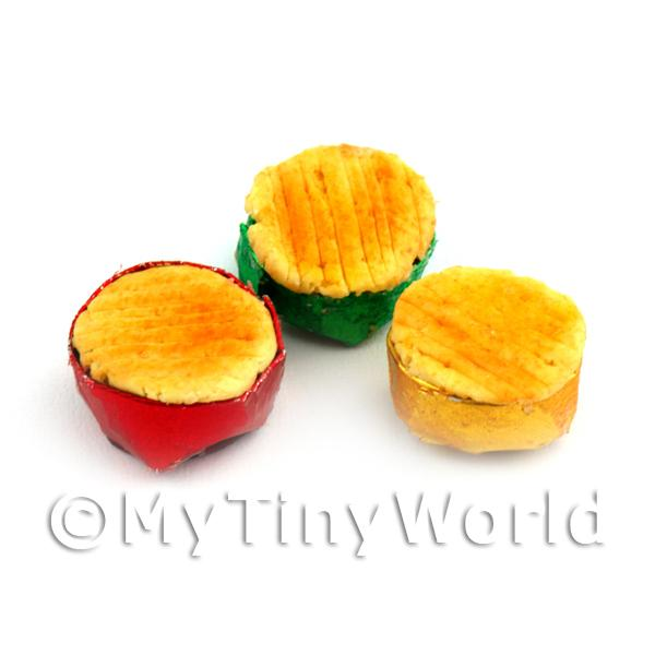 Dolls House Miniature 3  Chip Shop Pies