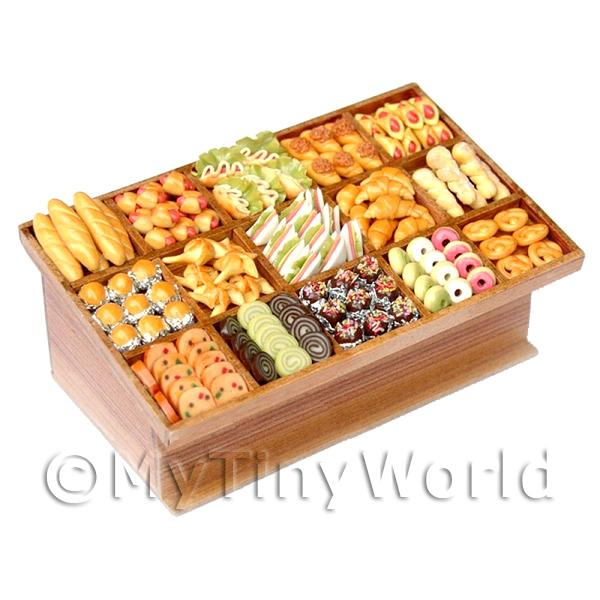 Dolls House Miniature  | Dolls House Miniature Filled 15 Section Bakery Counter