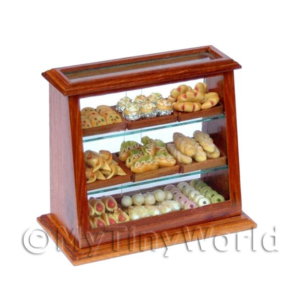 Dolls House Miniature  | Dolls House Miniature Filled Wood and Glass Display Counter