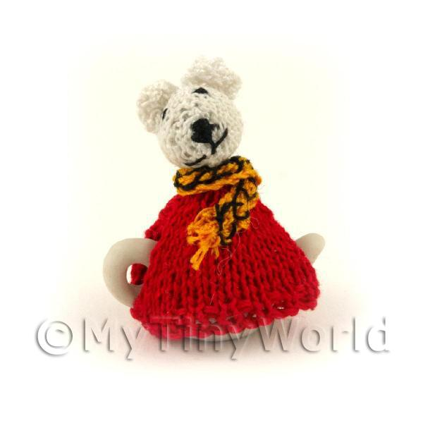 Dolls House Miniature Dolls And People - [EOL]Miniature Hand Knitted Rupert B...