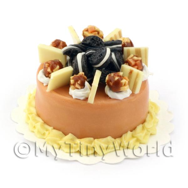 Dolls House Miniature Smooth Milk Chocolate Cake