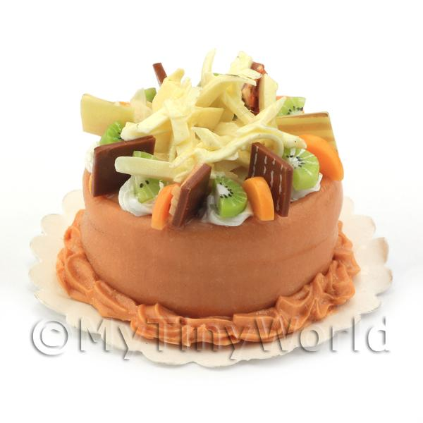 Dolls House Miniature Orange Fruit Cake