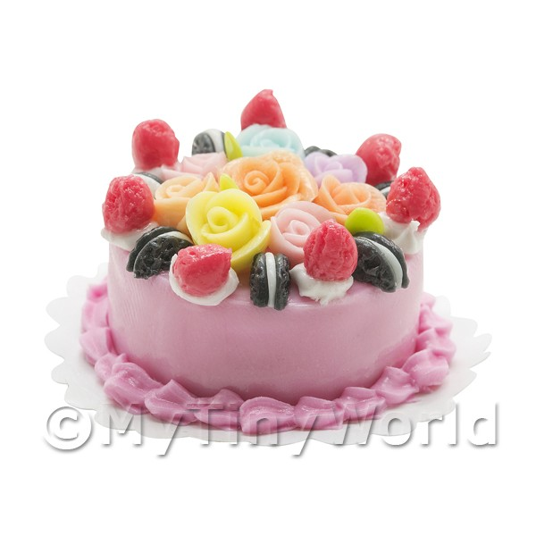 Miniature Double Chocolate Strawberry Cake