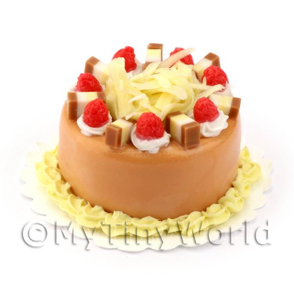 Dolls House Miniature  White Chocolate Fudge Cake