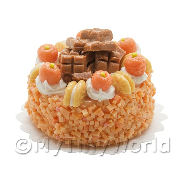 Dolls House Miniature Orange Toffee cake
