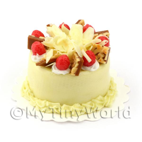 Dolls House Miniature Nutty Strawberry Cake