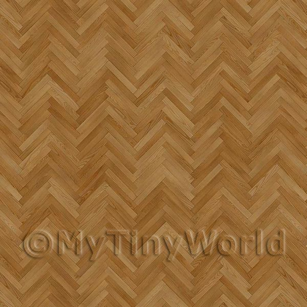 Dolls House Miniature  | Dolls House Miniature Parquet Flooring Honey Thin Oak Strip Effect