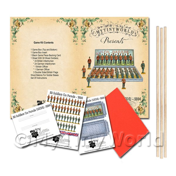Dolls House Miniature  | Dolls House Miniature 50 Soldiers On Parade Board Game Kit