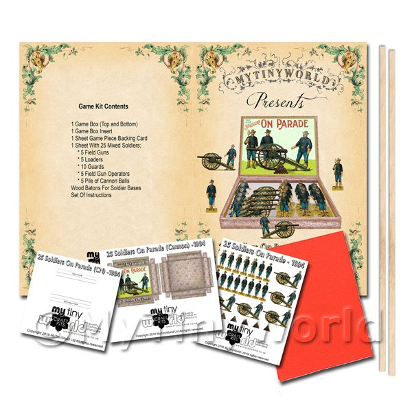 Dolls House Miniature 25 Soldiers On Parade (CN) Board Game Kit