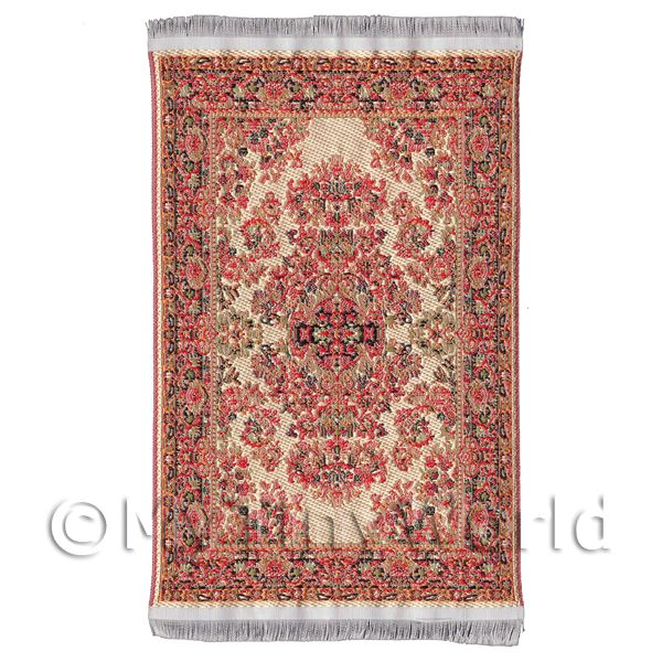 Dolls House Miniature  | Dolls House Small Rectangular 16th Century Carpet / Rug (16SR03)
