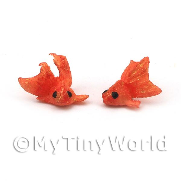 Dolls House Miniature Pair of Large Orange Chinese Goldfish