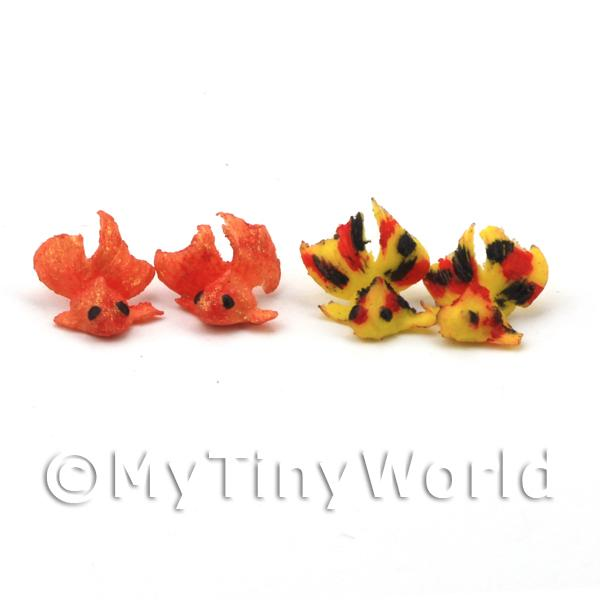 4 Dolls House Miniature Large Chinese Goldfish