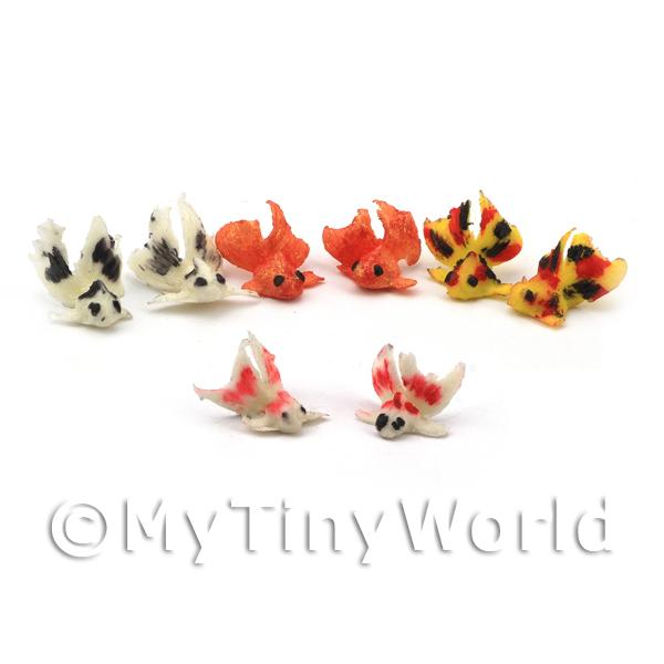 8 Mixed Dolls House Miniature Chinese Goldfish