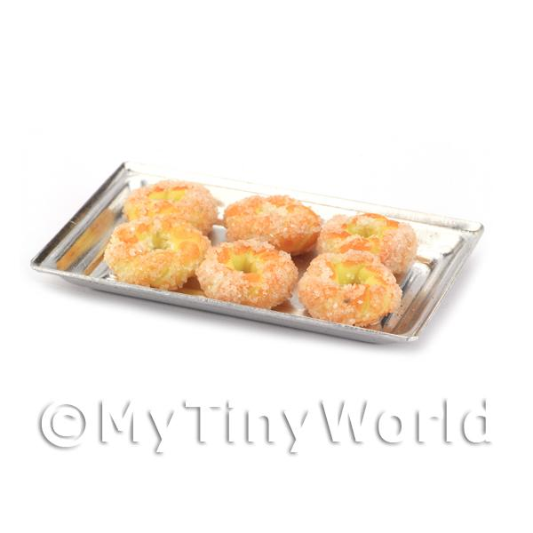 Dolls House Miniature Pastry Twists on a Metal Tray
