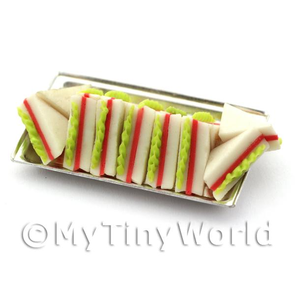 Dolls House Miniature Tray of Ham Salad Sandwiches